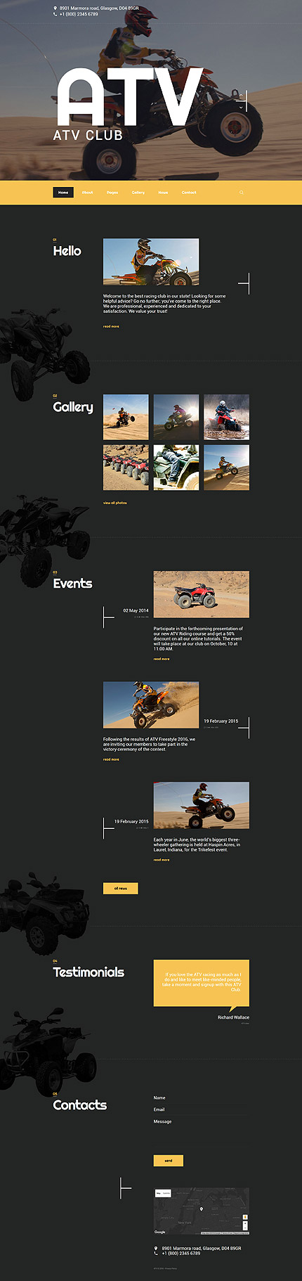 Joomla Theme/Template 57700 Main Page Screenshot