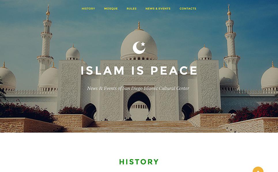 Reszponzív Iszlám Nyítóoldal sablon New Screenshots BIG
