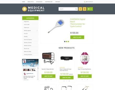 Medical Equipment OpenCart Template
