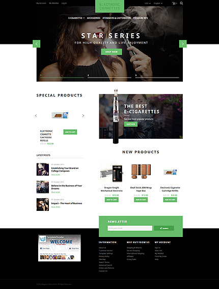 Magento Theme/Template 57714 Main Page Screenshot