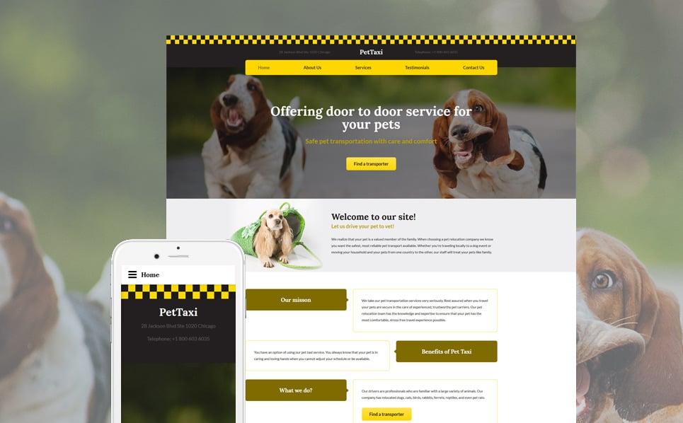 Адаптивний Шаблон сайту на тему таксі New Screenshots BIG