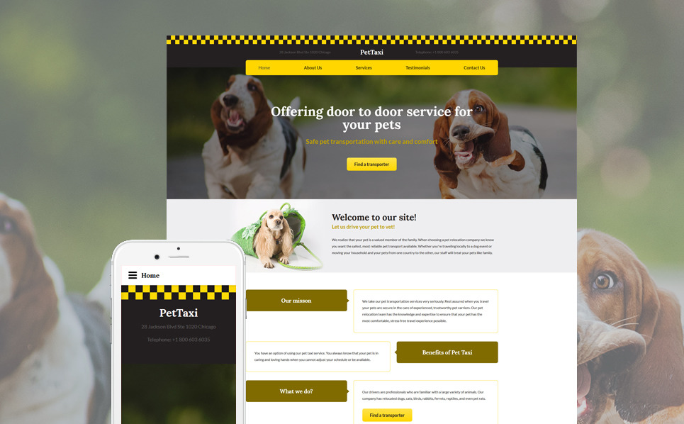 Responsive Website template over Taxi  New Screenshots BIG