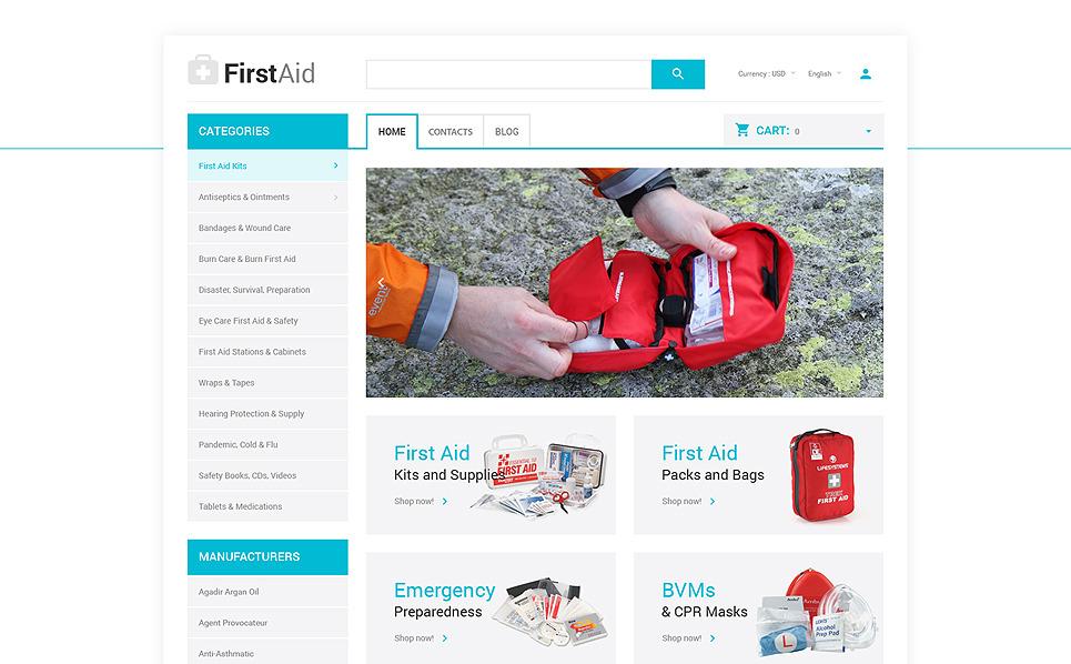 Thème OpenCart adaptatif  pour site d'ambulance New Screenshots BIG