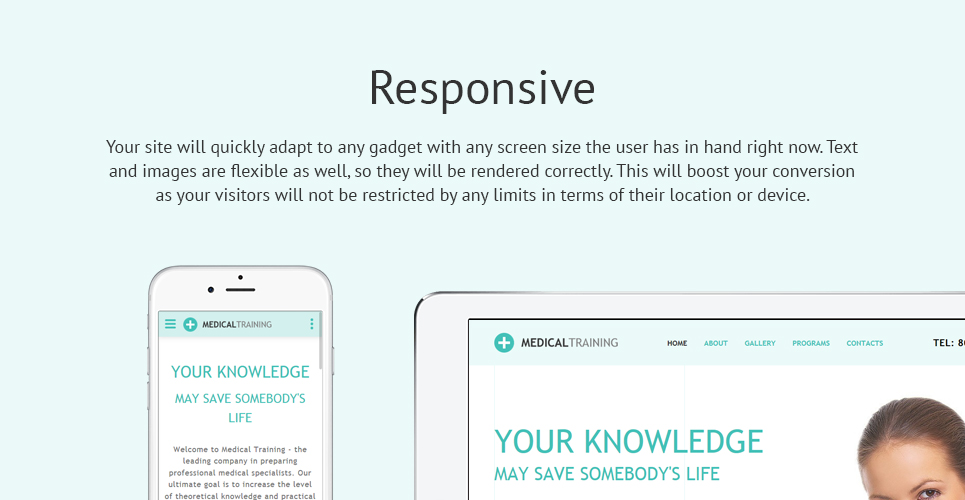 Medical Training  Responsive Website Template