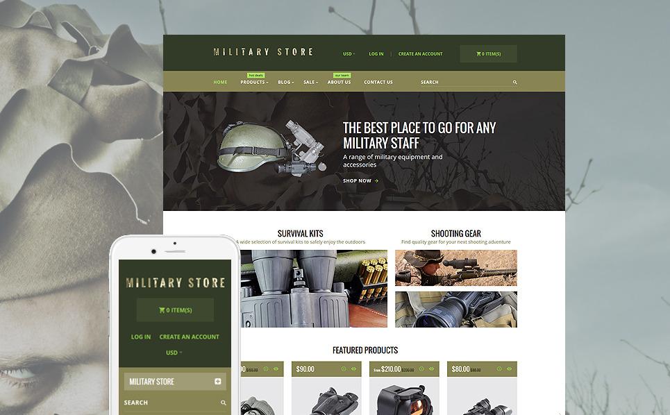 Responsives Shopify Theme für Militär  New Screenshots BIG