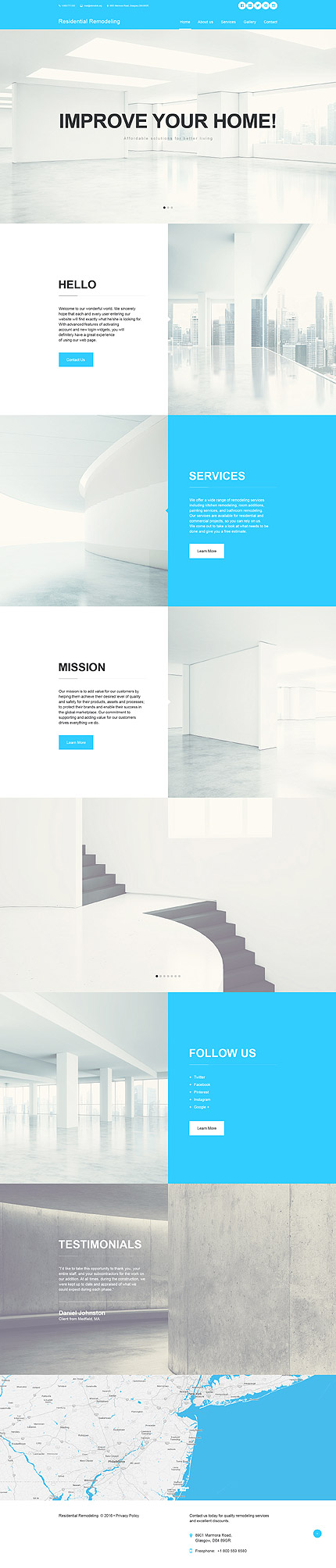 Muse шаблон сайта о дизайне интерьеров