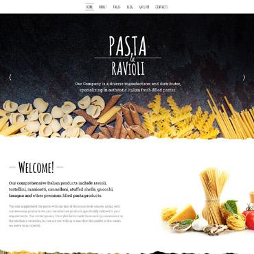 Купить Шаблон сайта компании по производству макаронных изделий. Купить шаблон #57779 и создать сайт.