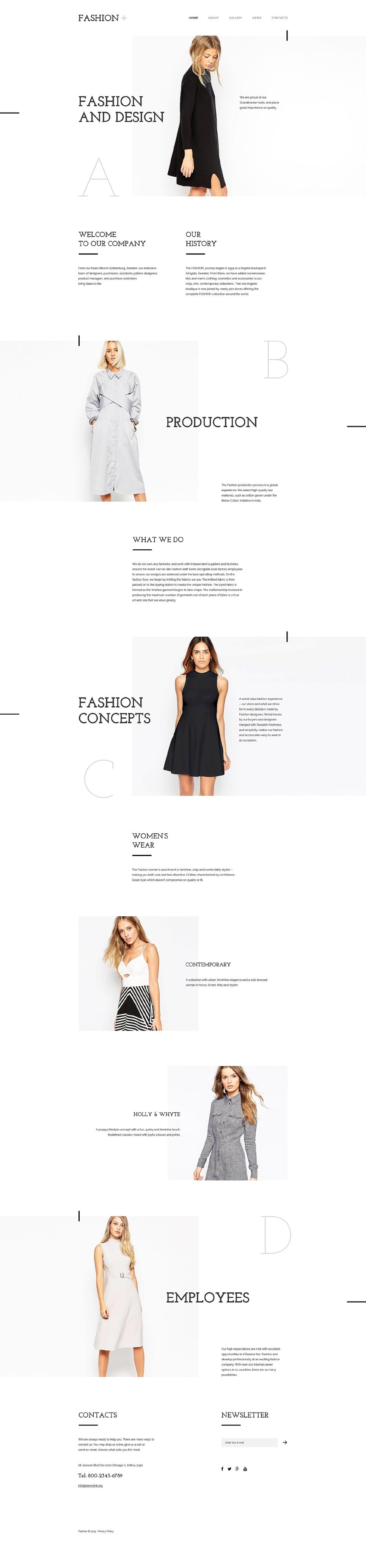 Fashion template illustration image