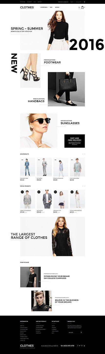Magento Theme/Template 57789 Main Page Screenshot