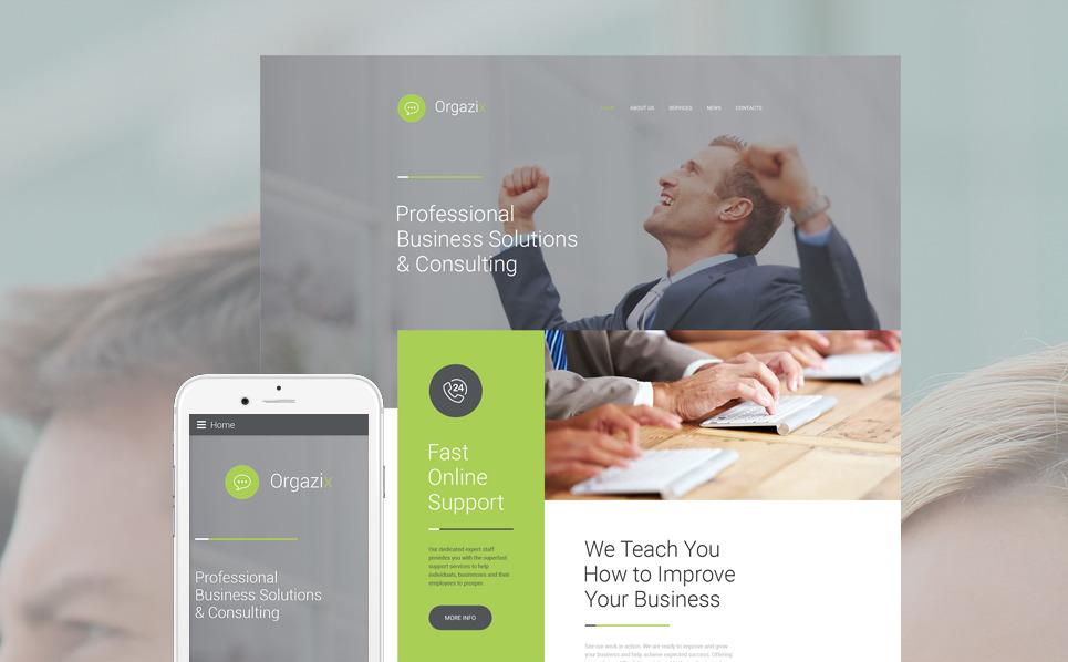 Responsywny szablon strony www Biznesowy #57796 New Screenshots BIG