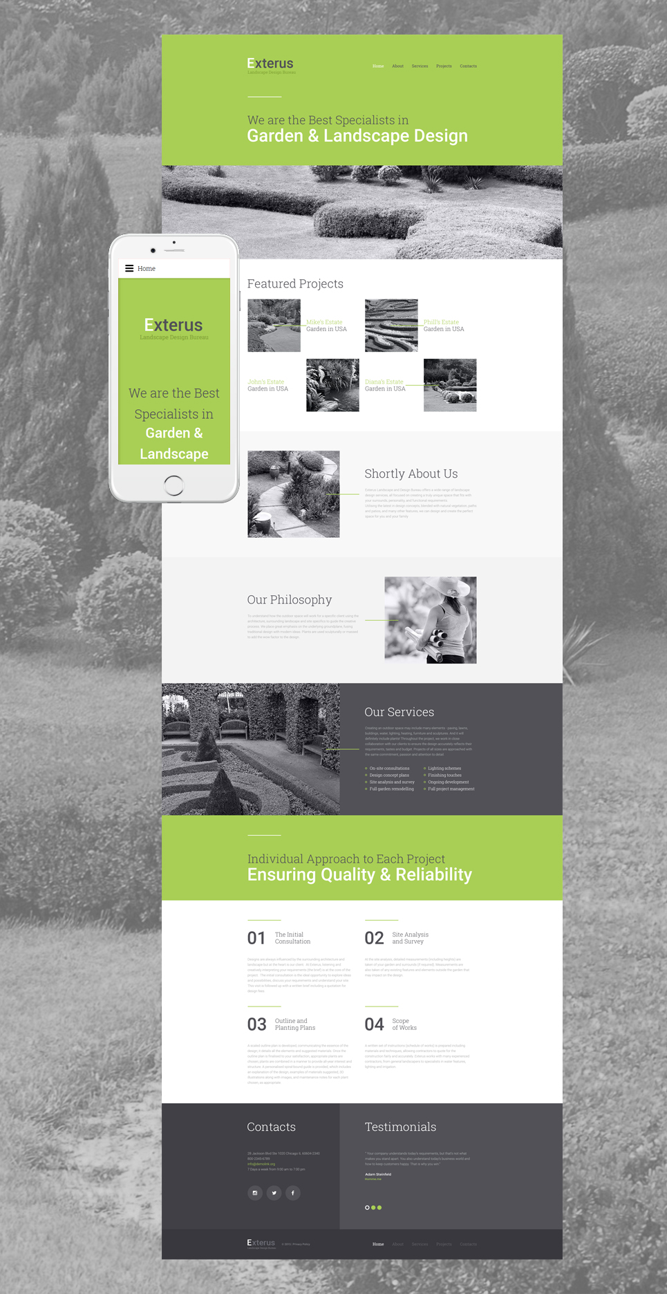 Exterior design website template 57797 for Exterior design website templates
