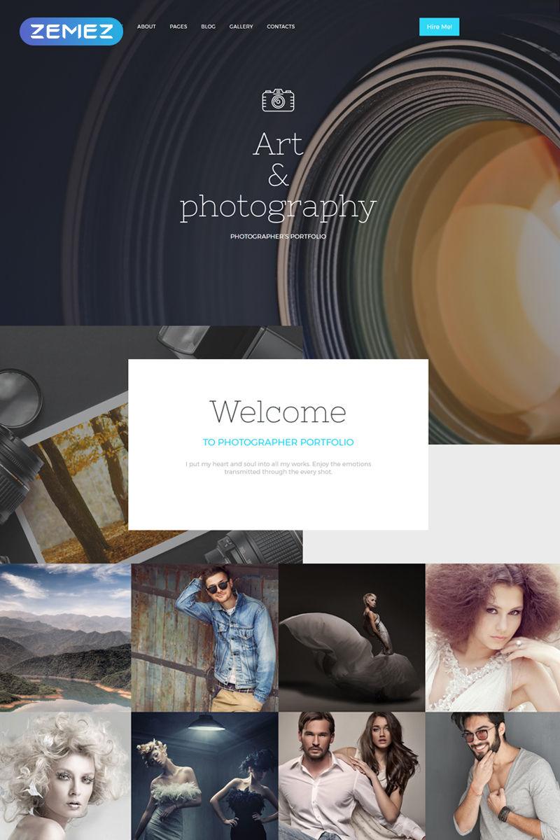 Адаптивный Joomla шаблон №57793 на тему портфолио фотографа
