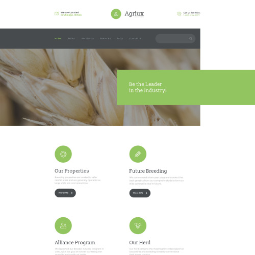 Agriux - Responsive Website Template