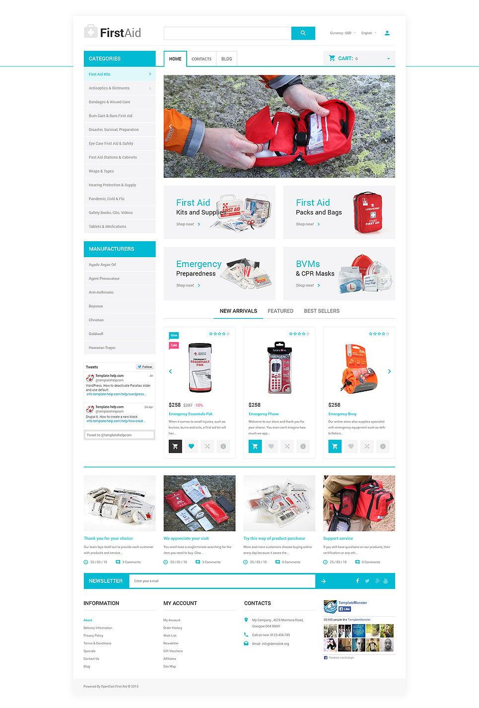 Ambulance Responsive OpenCart Template New Screenshots BIG