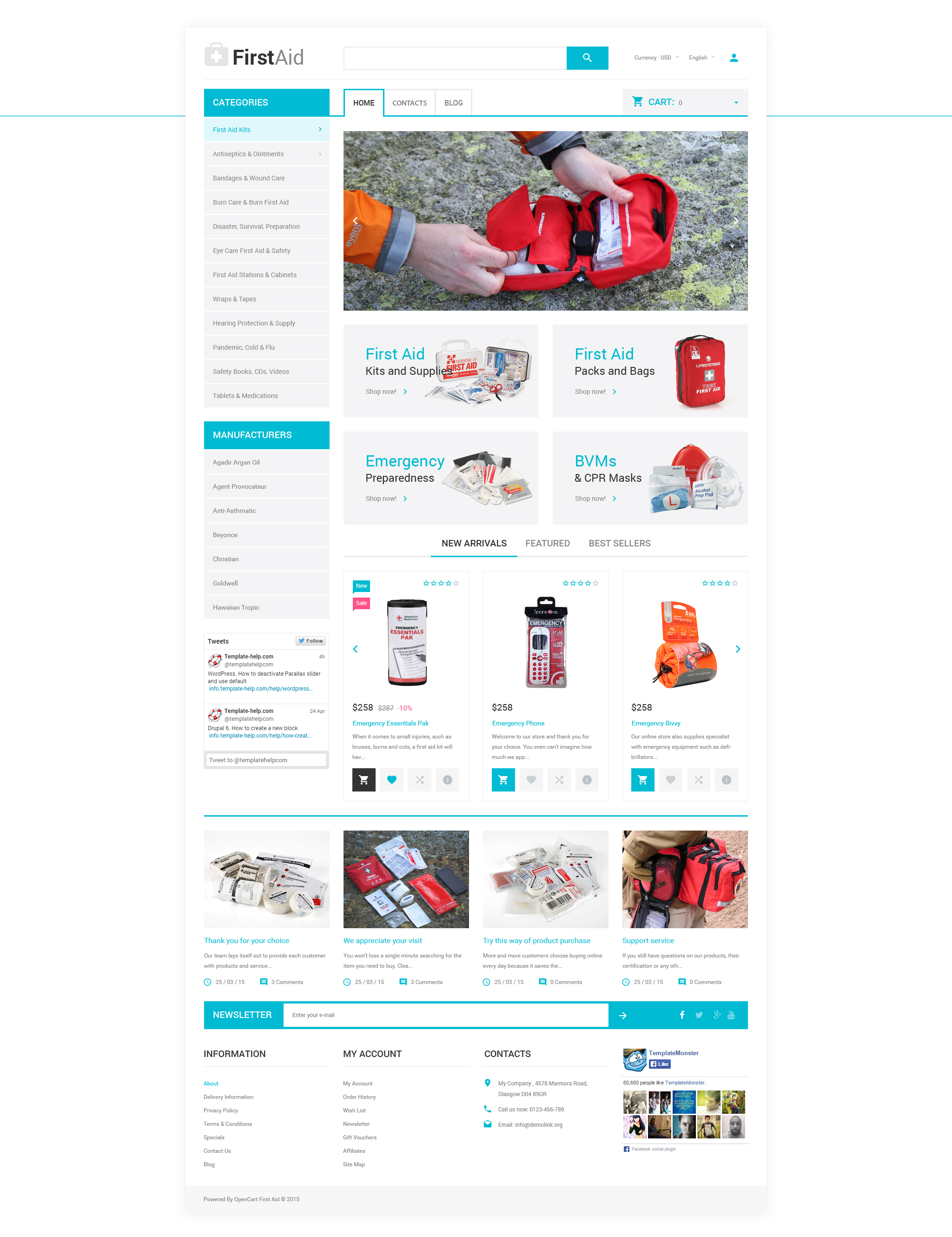 Ambulance Responsive OpenCart Template