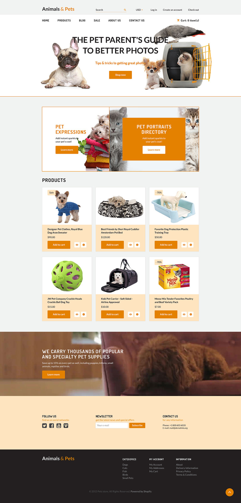 Animals Pets Shopify Theme New Screenshots BIG