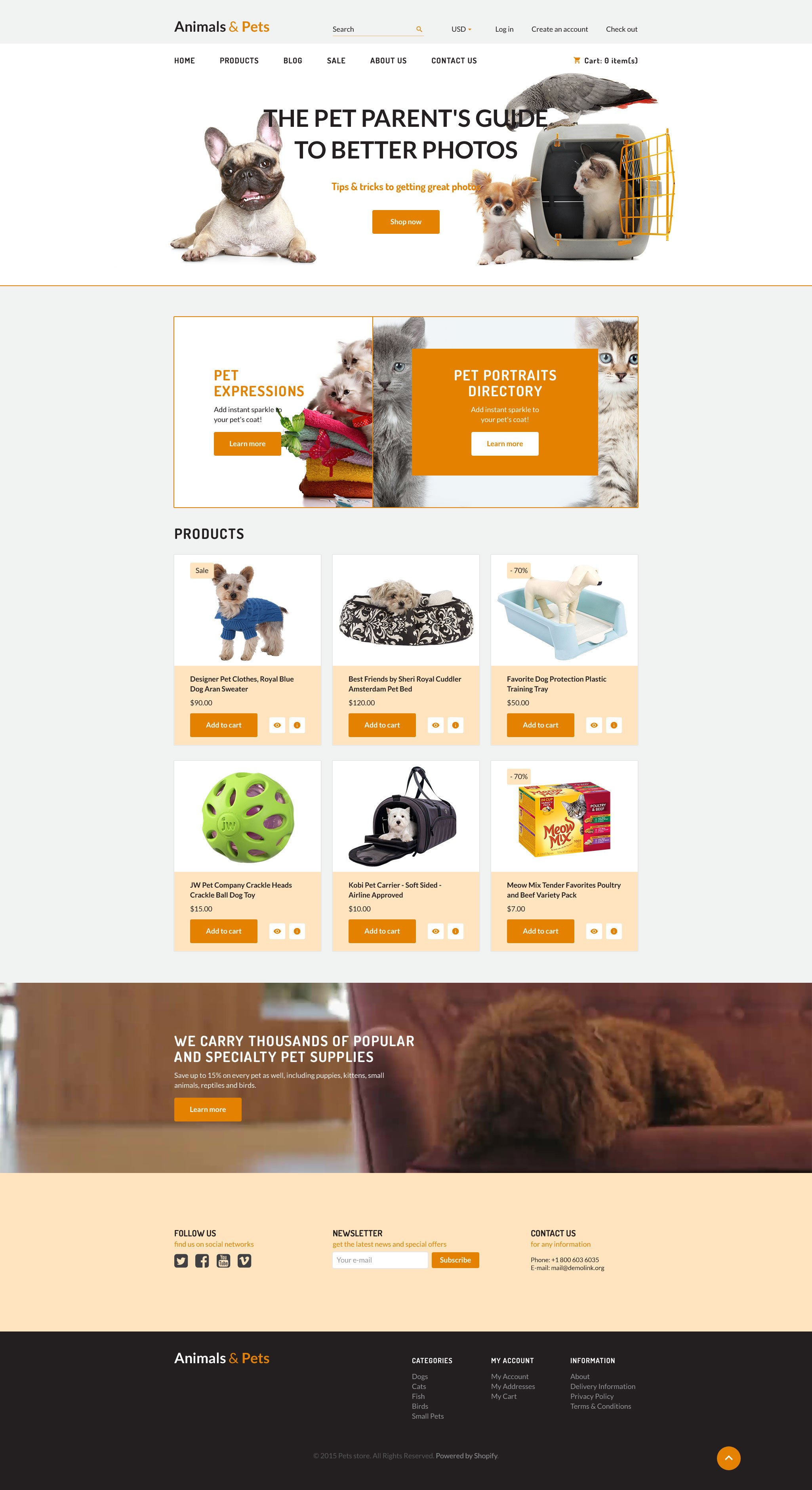 Pet Store Shopify Theme - Shopify store templates