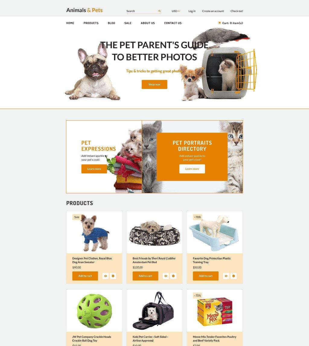 Animals Pets Shopify Theme