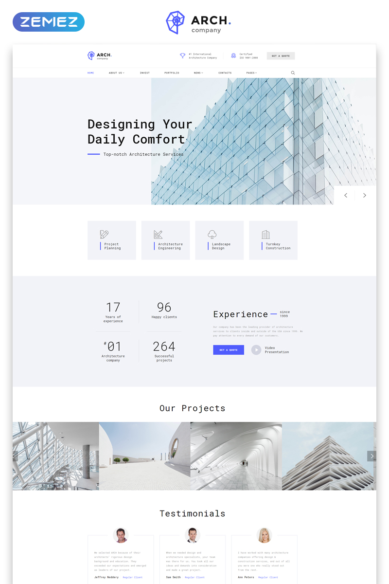 Arch - Architecture Multipage HTML Website Template - screenshot
