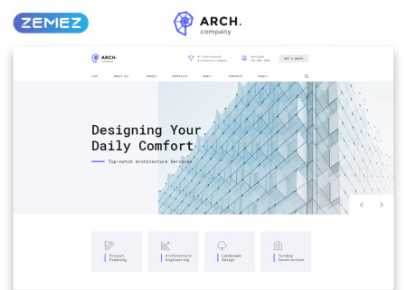 Architecture Multipage HTML template