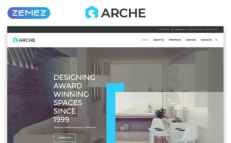Arche Website Template New Screenshots