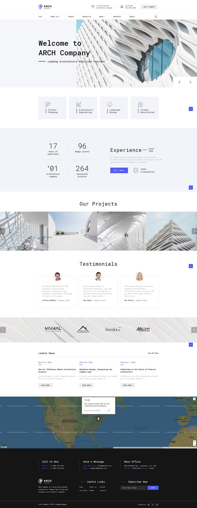Archex Website Template New Screenshots BIG
