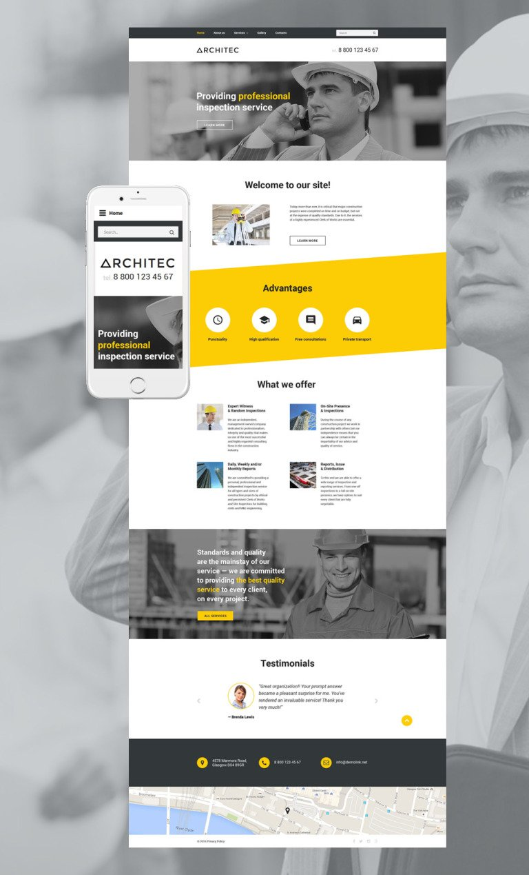 Architec Website Template New Screenshots BIG