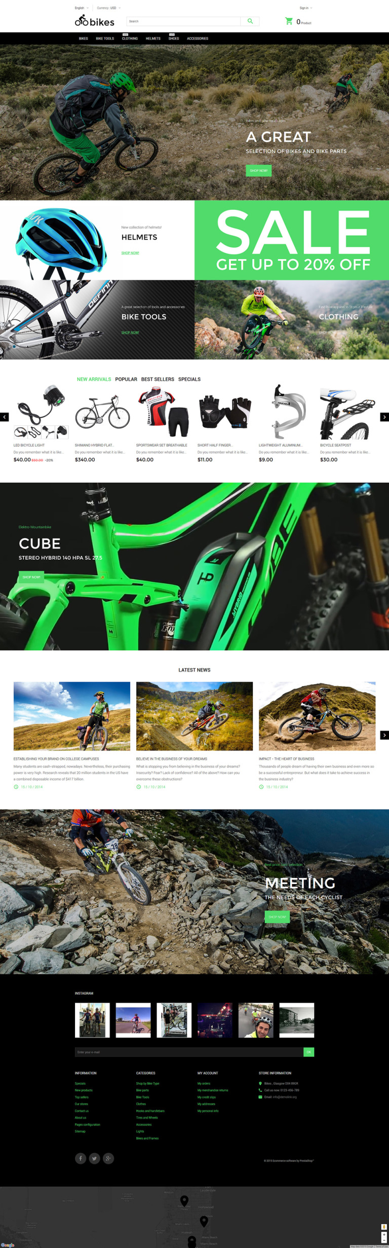 Bikes PrestaShop Theme New Screenshots BIG