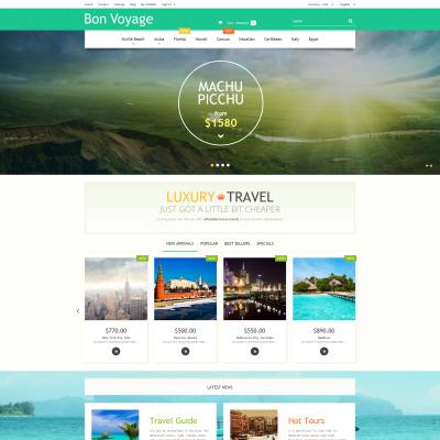 Thème PrestaShop adaptatif  pour site d'agence de voyage