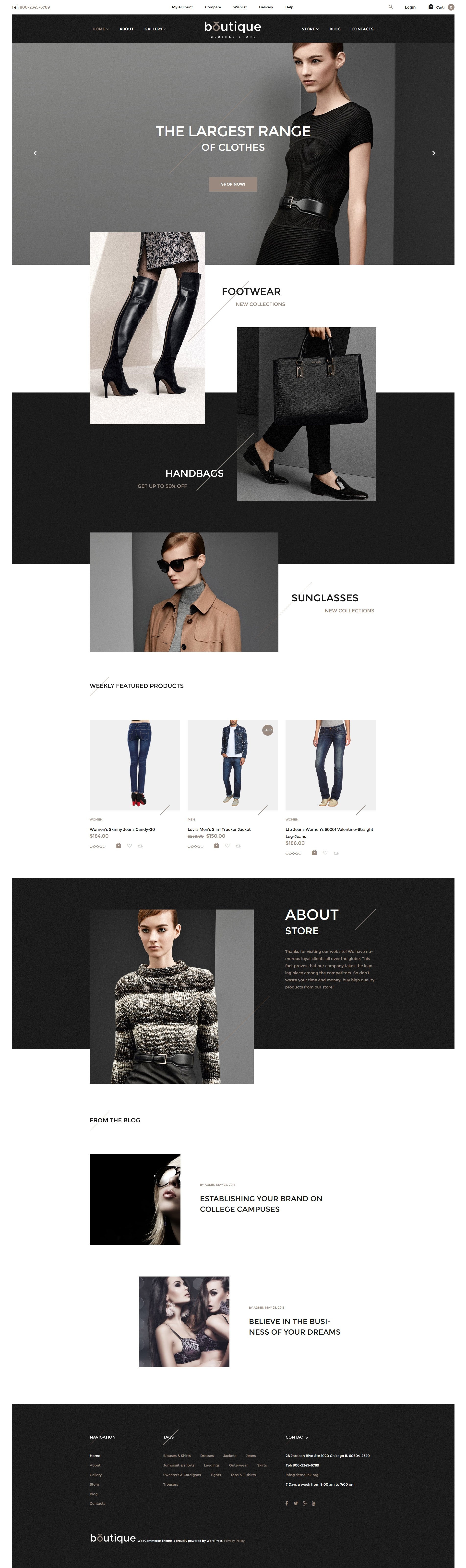 """Boutique"" - адаптивний WooCommerce шаблон №57736 - скріншот"