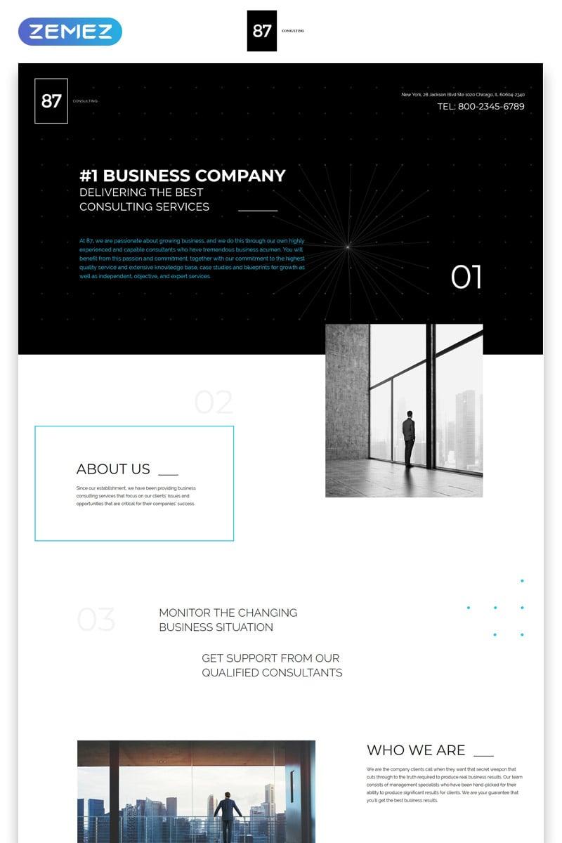 """87 - Business & Corporate Creative HTML"" - адаптивний Шаблон цільової сторінки №57785"