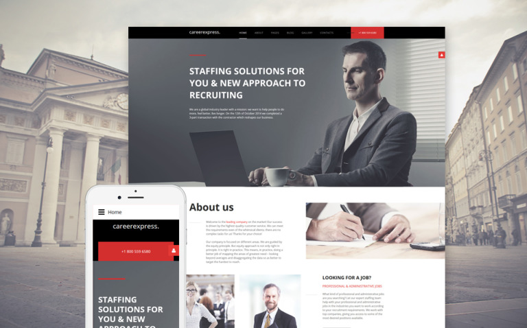 CareerExpress Joomla Template New Screenshots BIG