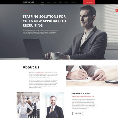 Thème Joomla adaptatif  pour site de formation du parcours professionnel