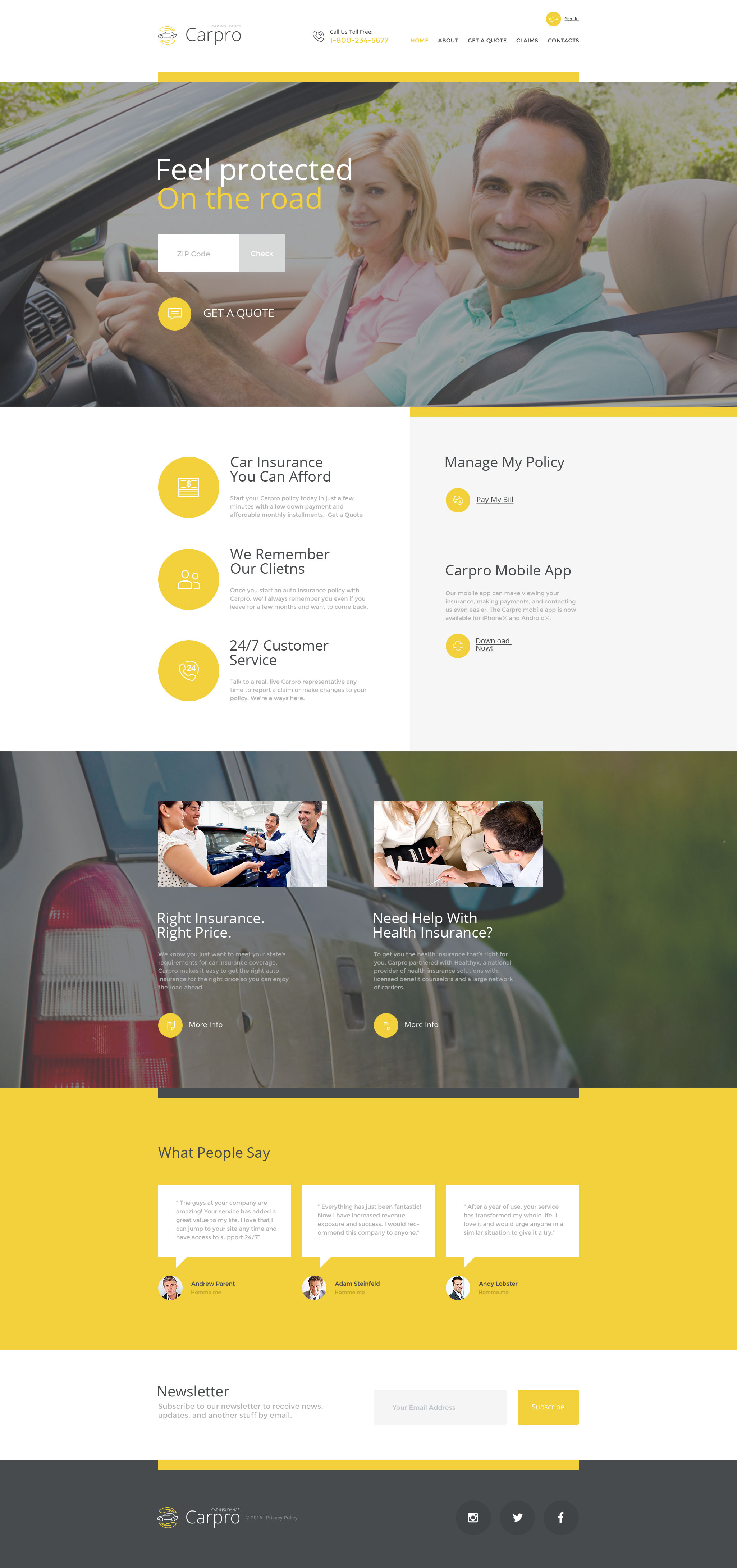 Carpro Website Template - screenshot