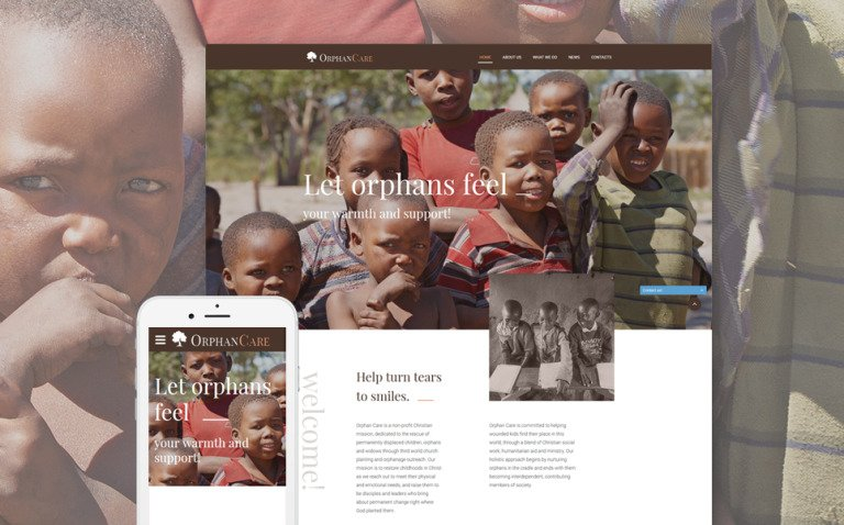 Child Charity Responsive Website Template New Screenshots BIG