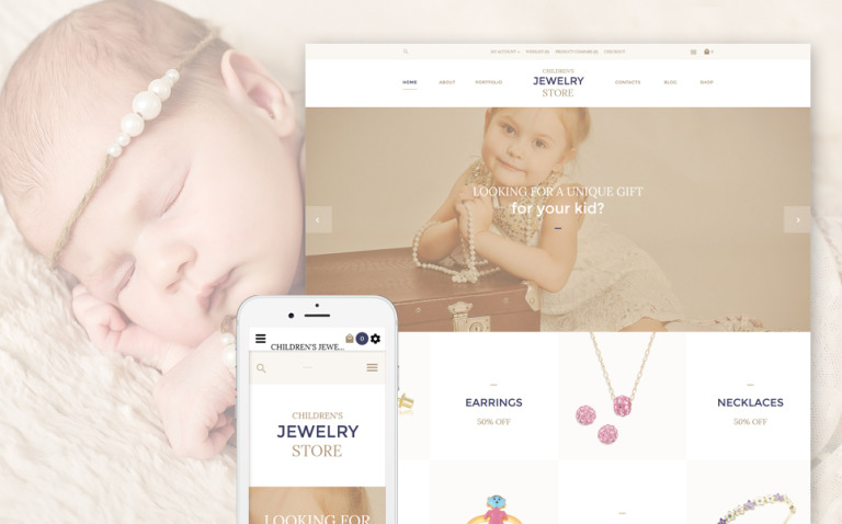 Children's Jewelry Store OpenCart Template New Screenshots BIG