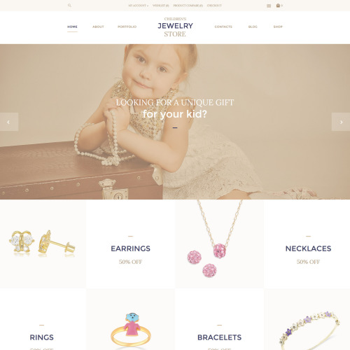 Children Jewelry Store - OpenCart Template based on Bootstrap