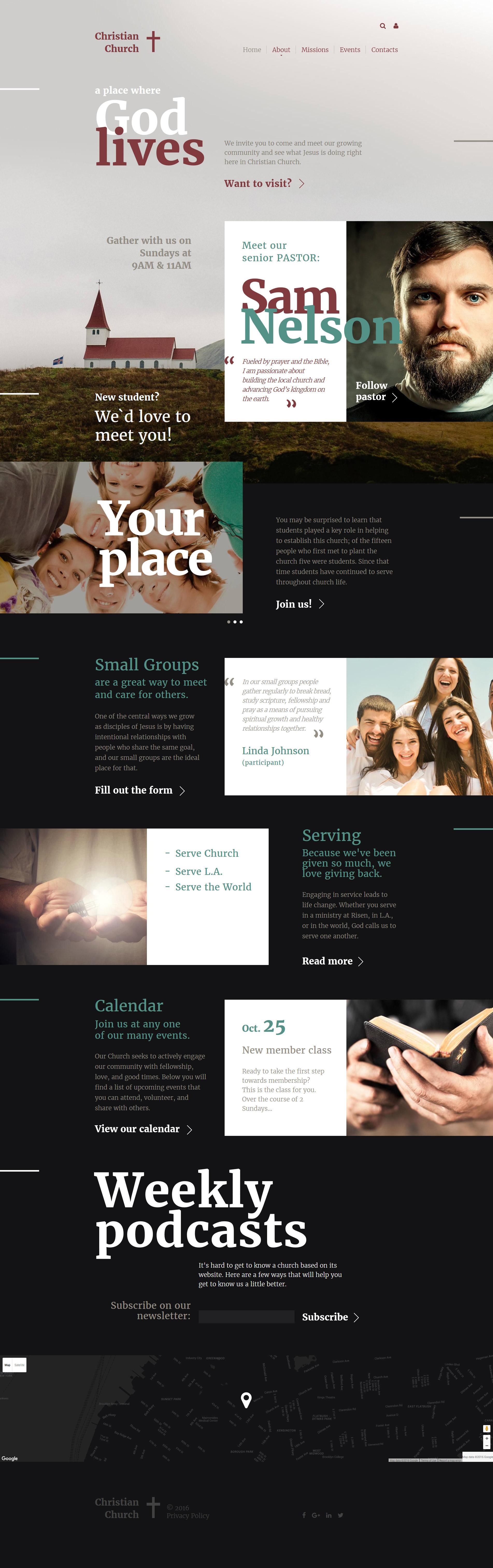 """""""Christian"""" - адаптивний Шаблон сайту №57720 - скріншот"""