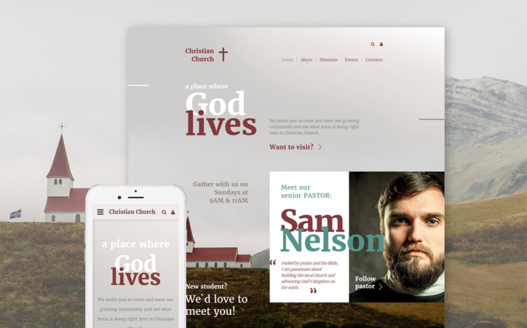 Christian Website Template New Screenshots BIG