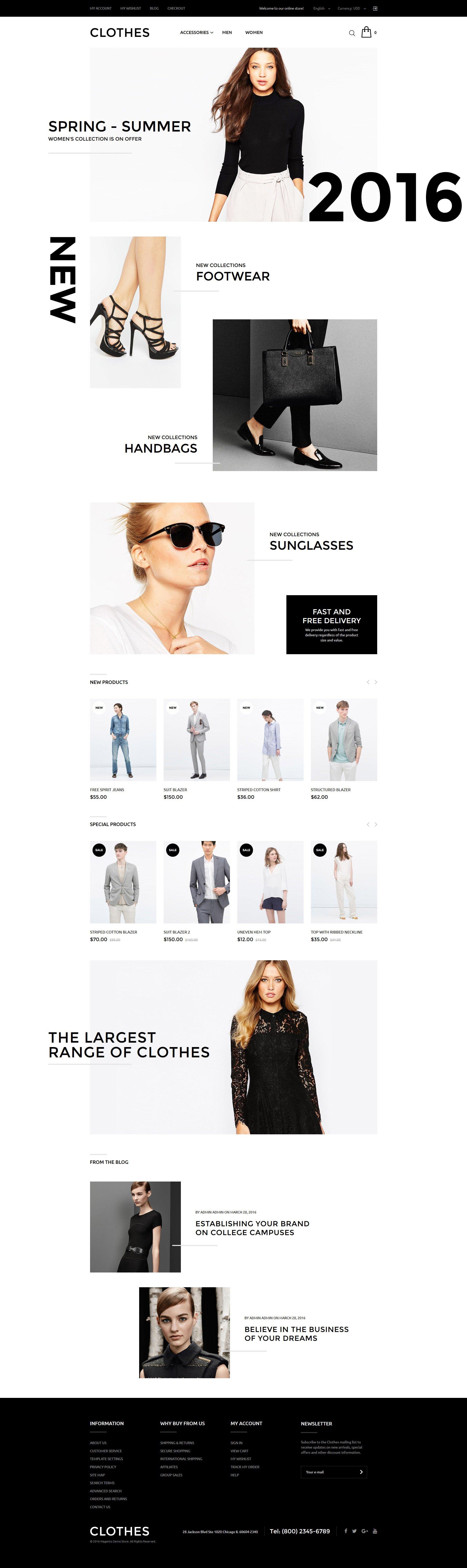 Clothes Store Magento Theme - screenshot