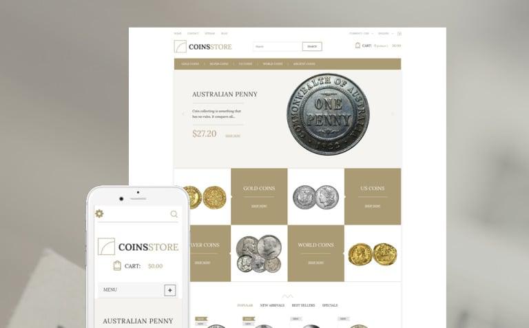 Coin Store PrestaShop Theme