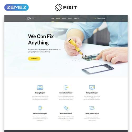 Computer Repair - Responsive Computer Repair Website Template