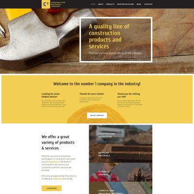 Modèle Web adaptatif  pour entreprise de construction