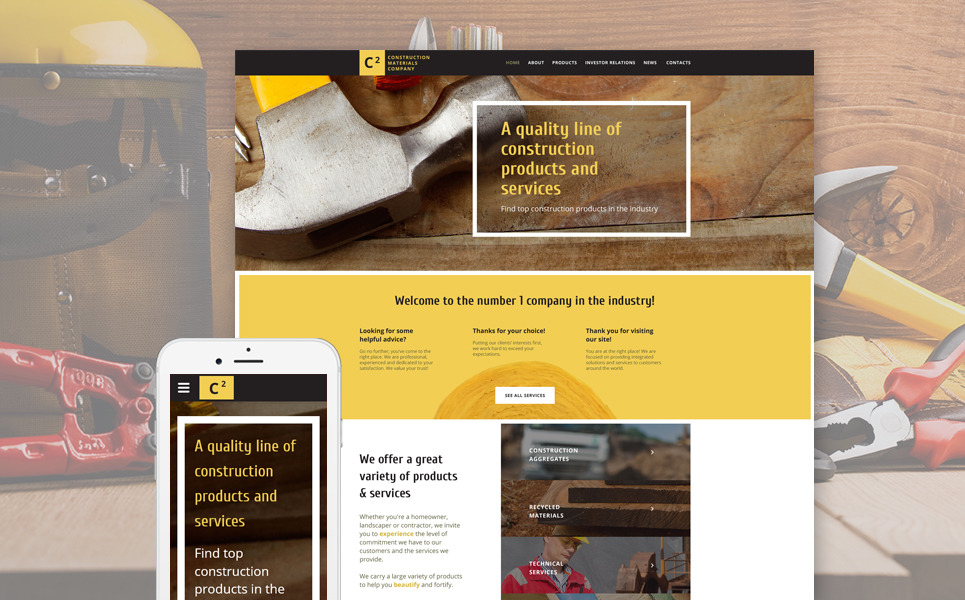 Construction Materials Company Website Template New Screenshots BIG