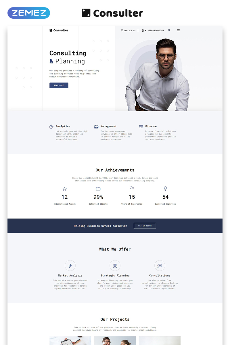 Consulter - Stylish Consulting Company Multipage HTML Website Template