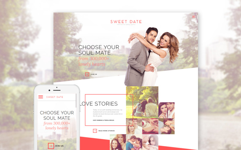 Dating Responsive Website Template New Screenshots BIG
