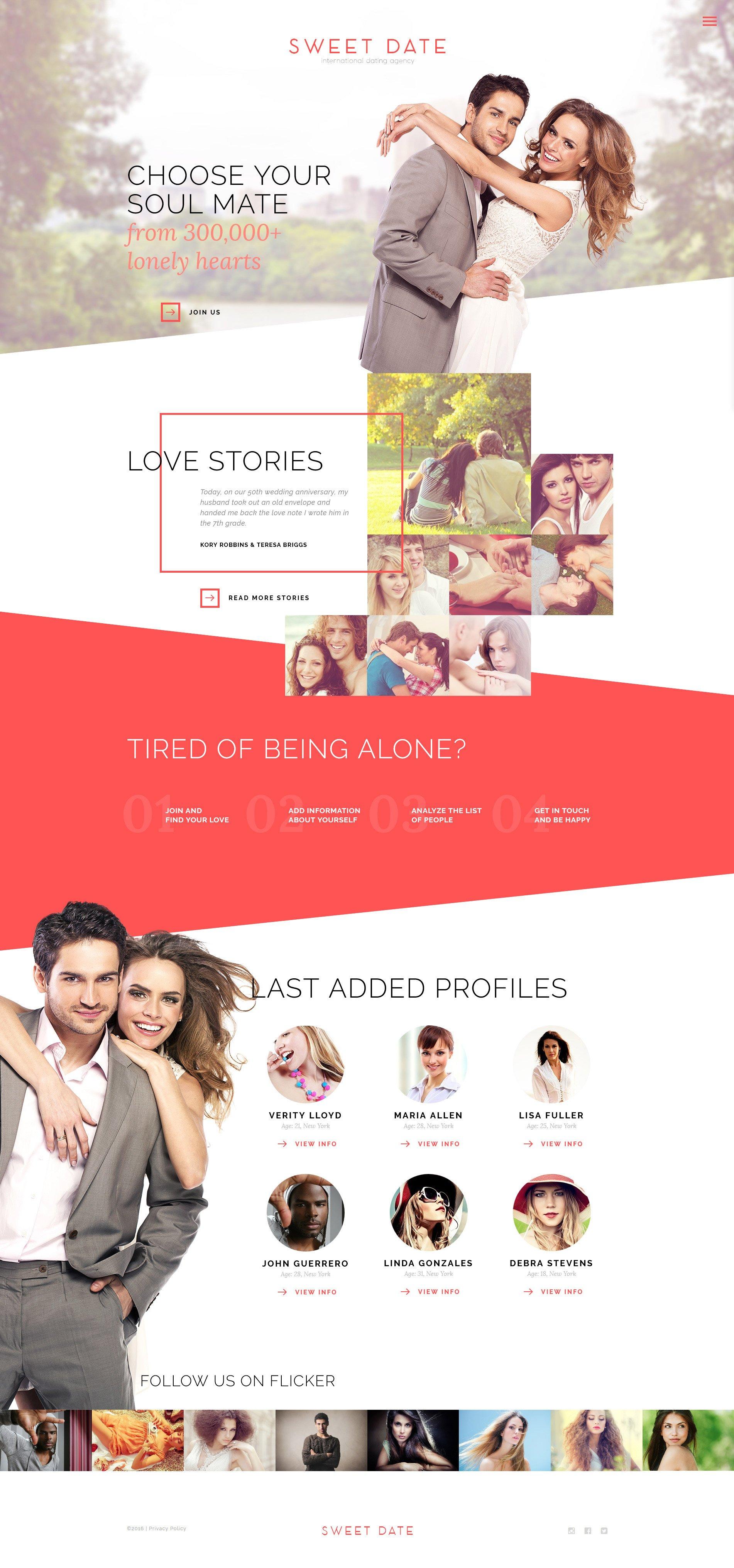 Dating website love stories