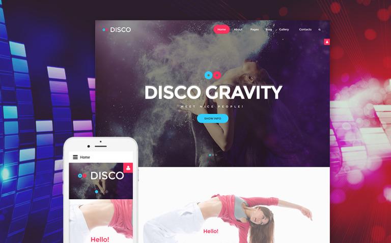 Disco Gravity Joomla Template New Screenshots BIG