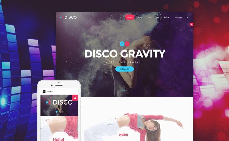 Disco Gravity Joomla Template