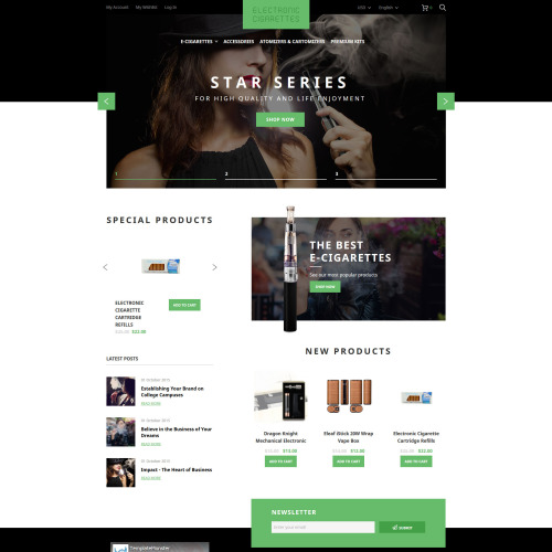 Star Series - HTML5 Magento Template